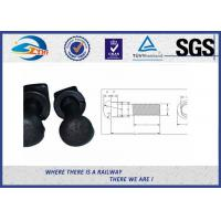 Wholesale Carbon Steel bolts and nuts , Black Oxide Railroad Bolt For Fish Plate from china suppliers