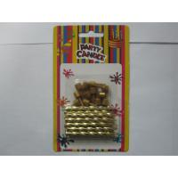 Wholesale Flameless Shiny Gold Birthday Candles Flameless Dia 0.3 Inch With Holders from china suppliers