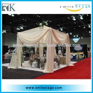 wedding square roof pipe and drape with voile velvet velour drape