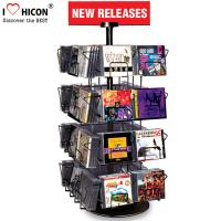 Wholesale CD Merchandising Metal Display Racks 32 Pockets Book Retail Rotating Display Rack from china suppliers