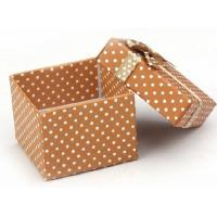 Wholesale Brown Square Paper Gift Box / Custom Printed Product Boxes With Ivory Board from china suppliers