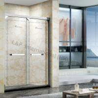 Wholesale Luxury 304# Stainless Steel Etched Pattern Shower Door with Double Sliding Door from china suppliers