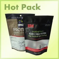 Wholesale CE Certified Raw Chia Seed Stand Up Pouch Bags Resealable With Clear Window from china suppliers