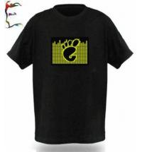 Quality EQ Music T-shirt,DJ Flashing LED T-shirt,3D Flashing T-shirt for sale