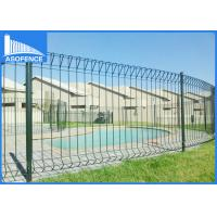 Wholesale Security Welded Rolled Panel Fence , Metal Garden Fence Panels For Residence / Courtyard from china suppliers