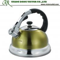 Wholesale Camille kettle 3L Stainless steel whistling water kettle tea pot High quality mix colors yellow, orange,red, blue, green from china suppliers