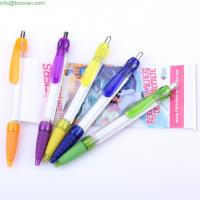 Wholesale classical printed logo branding flag pen,paper plag banner plastic pen from china suppliers