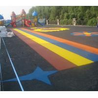 Wholesale Pour In / Wet Pour Epdm Rubber Flooring , Colorful Rubber Granules Flooring Playground Cover  from china suppliers