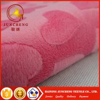 Wholesale 2018 New arrival heart design 2mm minky plush fabric from china suppliers