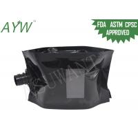 Wholesale Glossy Black Liquid Spout Bags Clear Window For Soft Drinks / Energy Drinks from china suppliers