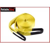 Wholesale Orange Heavy Duty Lashing Straps Flat Belt With Loop Ends With Break Strength 15,000 Lbs from china suppliers