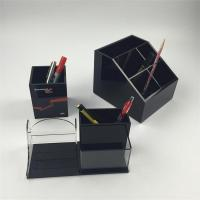 Wholesale office desktop acrylic pen holder for Christmas gift from china suppliers