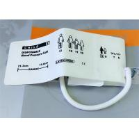 Wholesale Animal TPU Material Non Invasive Blood Pressure Cuff , Neonate3 Disposable NIBP CUFF from china suppliers