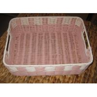 Wholesale China Made High Quality Square Plastic Rattan Storage Basket/fruit basket/ sundry use basket from china suppliers