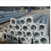 Quality Decorative Parking Lot Lighting Poles , Street Lighting Columns 5m-12m Length for sale