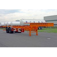 Wholesale Extendable Two Axles 20 / 30ft Gooseneck Container Semi Trailer Chassis from china suppliers