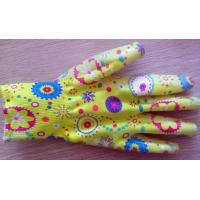 Wholesale Dot Printed Nitrile Work Gloves 13gauge With Heat Transfer Print For Garden from china suppliers