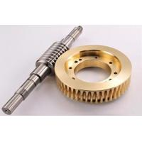Plated / Nitrification Carbon Steel Metal Gears Worm Wheel For Machine Gearbox