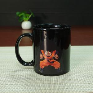 Quality Heat Sensitive Color Changing Mugs Yellow Goku Dragon Ball Magic Mug Coffee Mug Decoration for sale