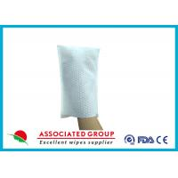 Wholesale Big Pearl Dot Spunlace Scrub Wet Wipe Gloves Boby Washing Material Square Shape from china suppliers