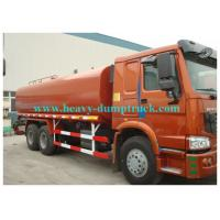 Wholesale Howo water tank truck 20cbm  tank capacity with engine 300hp EURO III red color from china suppliers