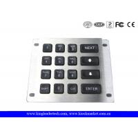 Wholesale 16 Keys Led Illuminated Blacklit Metal Keypad With IP65 Rated For Panel Mount from china suppliers