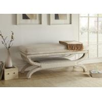 Wholesale Crowned Seat White Upholstered Bench Seat With Wood Solid Timber Frame from china suppliers