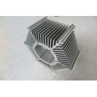 Wholesale LED Round Sunflower Extruded Heat Sink Profiles With Silver Anodized / Tapping from china suppliers