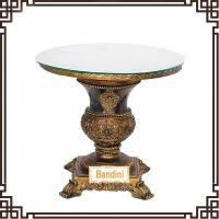 Wholesale Antique Tea table with glass surface coffee table French style antique dining table G057-4 from china suppliers
