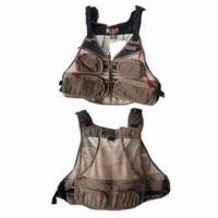 Wholesale Fishing Vests with waterproof cloth, Available in Different Colors and Sizes from china suppliers