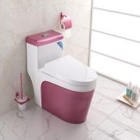 Wholesale Complete Toilet Set Pink Color Ground Drainage patterns from china suppliers