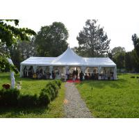 Wholesale High Peak Top White Canvas Marquee Party Tent For Wedding Reception Waterproof from china suppliers