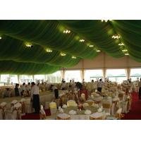 Wholesale Fire Retardant Wedding Event Tents With Drapery Decoration White Pvc Coating from china suppliers