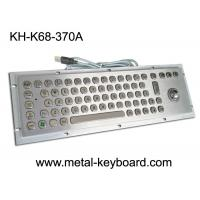 Wholesale Waterproof Rugged Industrial Keyboard with Trackball 70 Keys for Internet Kiosk from china suppliers