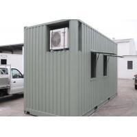 Wholesale 20ft Prebuilt Refugee Housing Unit , Air Conditional Shipping Containers Homes from china suppliers