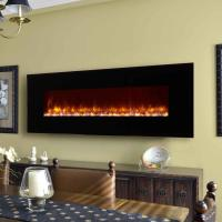 """Wholesale led flame electric  fireplace  95"""" wall mounted  modern  flat black glass remote control stone fuel effect 13662608511 from china suppliers"""