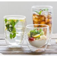 Wholesale Borosilicate double wall glass handmade  500ml big glass cup with handle and lip clean Heat-resisting glass cup from china suppliers