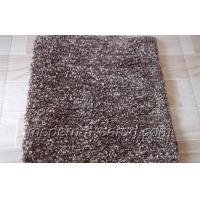 Wholesale Microfiber Yarn Chocolate / Milky White Polyester Solid Color Rug, Modern Shaggy Rugs from china suppliers