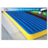 Wholesale Blue Inflatable Tumble Track Folding Air Gymnastics Mats for Sports Games from china suppliers