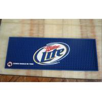 Wholesale Blue Miller Lite PVC bar mat from china suppliers