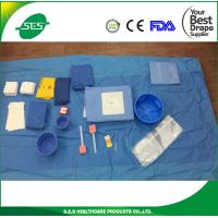 Wholesale SMS Angiography drape pack with disposable scissors cardiovasular set from china suppliers