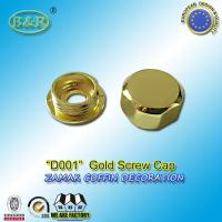 Wholesale coffin ornamental gold color coffin fitting D001 metal zamak screw cap cache-vis dia. 2cm from china suppliers