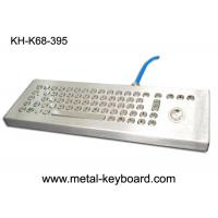 Wholesale Stand Alone Vandal Proof Keyboard 70 Metal Computer Keyboard Layout And Trackball Mouse from china suppliers
