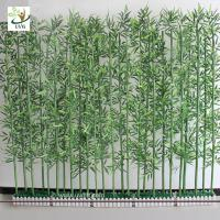 Wholesale UVG wholesale decorative artificial lucky bamboo in silk and plastic leaves for indoor decoration PLT19 from china suppliers