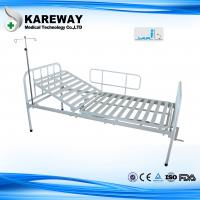 Wholesale Single Crank Manual Hospital Patient Bed With Mattress , Powder Coated Steel from china suppliers