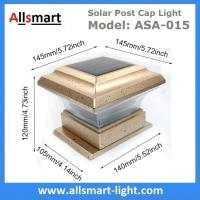 Quality Coffee Almond Colored Solar Post Caps Light for Wooden Fence Solar Powered Pillar Gate Lamp Stake Timber Pile Lighting for sale