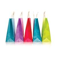 Wholesale OEM / ODM Full Color Promotional Paper Carrier Bags 200g / 250g Ivory Board from china suppliers