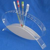 Wholesale Acrylic Pen Holder, Harmless to People/Environment, Available in Various Designs from china suppliers