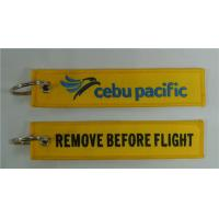 Wholesale Cebu Pacific Remove Before Flight Personalized Promotion Embroidery Key Tags Fobs from china suppliers