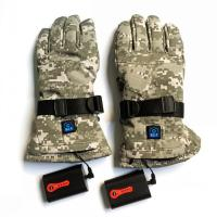 Electric Rechargeable Heated Gloves System: Batteries + LED Button+Charger+Heating Element
